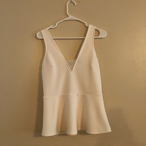 Express white peplum top size medium